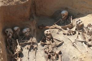 Die meisten Skelette vom St.-Petri-Kirchhof, hier aus einem der ältesten Gräber, sind sehr gut erhalten. ©Landesdenkmalamt Berlin/Claudia Melisch